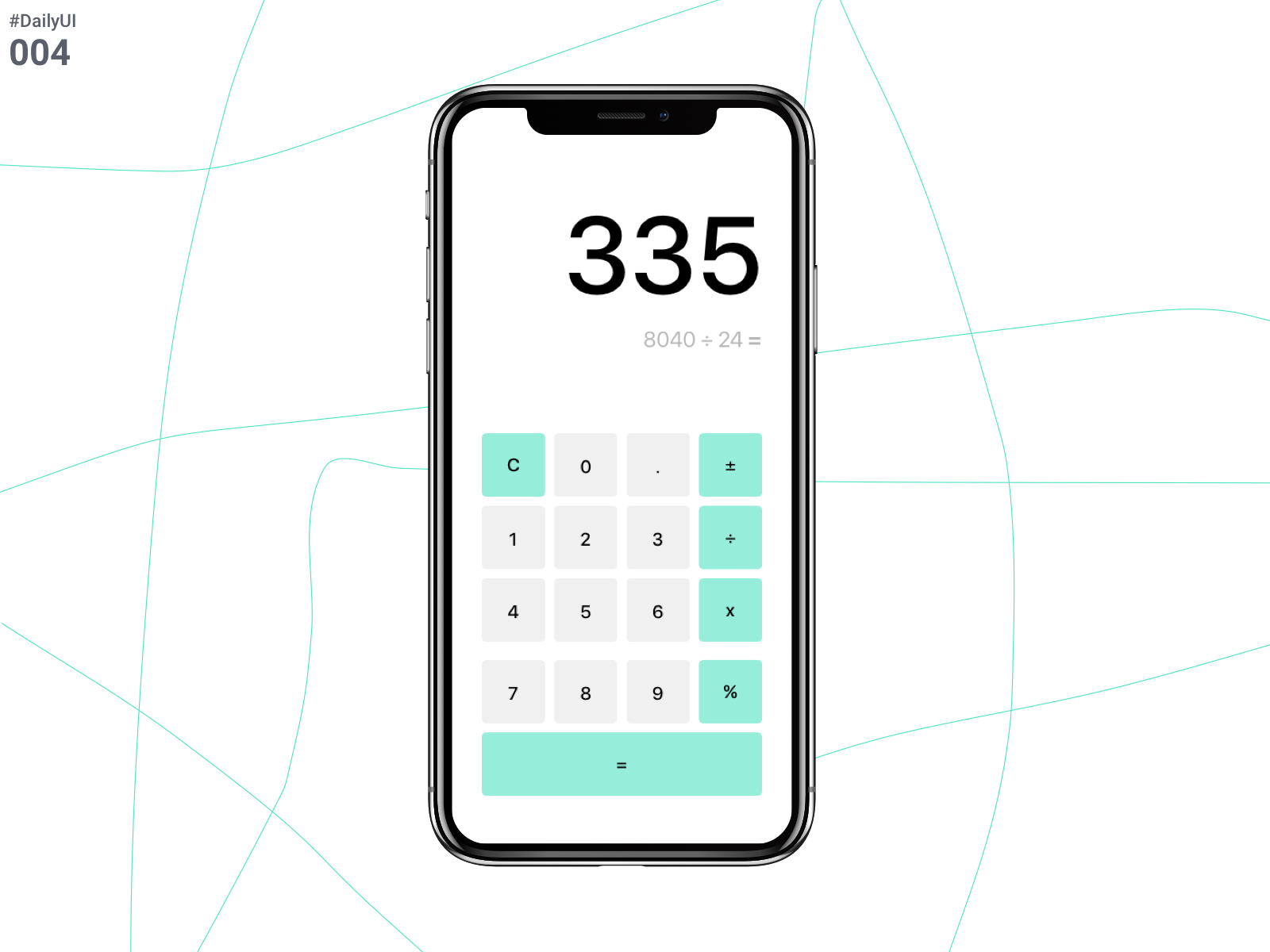 DailyUI Challenge 004 - calculator