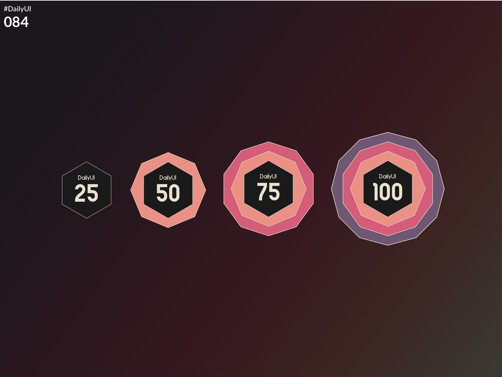 DailyUI Challenge 084 - Badge)